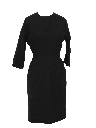 Womens Little Black Wool Fab Fifties Dress