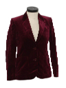 Women Totally 80s Velvet Blazer Jacket
