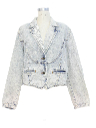 Womens Acid Washed Denim Jean Jacket