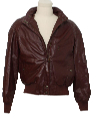 Mens Leather Racer Style Bomber Jacket