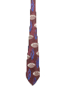 Mens Wide Stitched Necktie