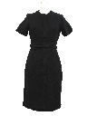 Womens Designer Wool Day Dress