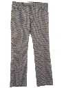 Mens Mod Plaid Leisure Pants