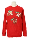 Womens Vintage Totally 80s Ugly Christmas Sweatshirt