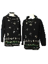 Womens Matching Pair of Two Ugly Christmas Oversized Cocktail Sweaters