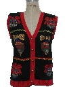 Womens or Girls Vintage Ugly Christmas Sweater Vest