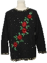 Unisex Beaded Embroidered Ugly Christmas Sweater