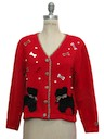 Womens Cheesy Kitschy Dog Tastic Sweater
