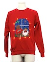 Unisex Amber Lightup Bear-riffic Ugly Christmas Sweatshirt