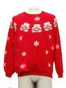 Unisex Multicolor Lightup Bear-riffic Ugly Christmas Vintage Sweatshirt