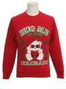 Unisex Ladies or Boys Vintage Bear-riffic Ugly Christmas Sweatshirt