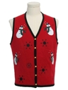 Womens Ugly Christmas Vintage Sweater Vest