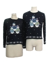 Womens Ugly Christmas Matching Set of Two Sweaters