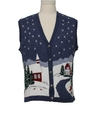 Unisex Ugly Christmas Vintage Sweater Vest