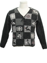 Womens or Girls Ugly Christmas Cardigan Sweater