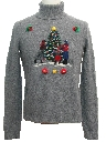 Womens Hand Embellished Ugly Christmas Sweater