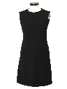 Womens Little Black Designer Wool Dress