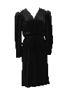 Womens Semi-formal Little Black Totally 80s Cocktail Dress