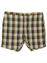 Mens Mod Plaid Shorts
