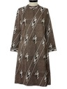 Womens Print Knit Dress