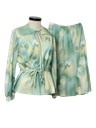 Womens Print Disco Skirt Suit