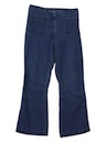 Womens Navy Bellbottom Jeans Pants