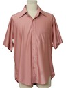 Mens Solid Shiny Nylon Qiana Disco Shirt