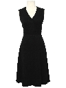 Womens Little Black Knit Dress