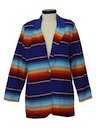 Womens Totally 80s Western Style Hippie Blazer Jacket