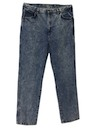 Mens Totally 80s Acid Wash Jeans Pants