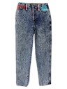 Womens Acid Wash Jeans Pants