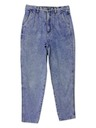 Womens Designer Totally 80s Acid Wash Jeans Pants
