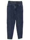 Womens Totally 80s Acid Wash Jeans Pants
