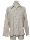 Mens Cotton Blend Print Disco Style Shirt