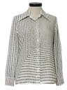 Womens Print Mod Disco Shirt