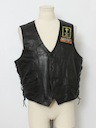 Mens Motorcycle Club Leather Vest