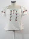 Womens Embroidered Peasant Hippie Shirt