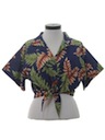Womens Hawaiian Crop Top Shirt