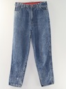 Womens Totally 80s Designer Acid Washed Jeans Pants