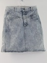 Womens Wicked 90s Acid Washed Denim Mini Skirt