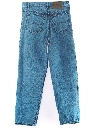 Womens Totally 80s Stone Washed Over Dyed Jeans Pants