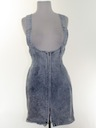 Womens Totally 80s Acid Washed Romper Skirt Dress