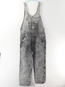 Unisex Stone Washed Totally 80s Overalls Denim Pants