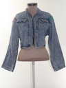 Womens Totally 80s Acid Washed Jacket