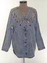Womens Totally 80s Acid Washed Shirt Jacket