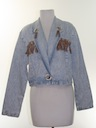 Womens Western Style Totally 80s Cropped Denim Jacket