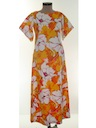 Womens A-Line Mod Hawaiian Maxi Dress