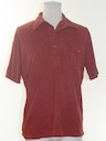 Mens Totally 80s Polo Cut Velour Shirt