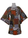 Womens Mod Mini Hawaiian Dress