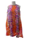 Womens A-Line Mini Hawaiian Dress